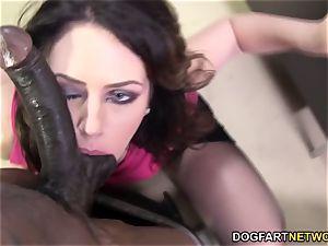 Sarah Shevon enjoys buttfuck hump with humungous ebony beef whistle