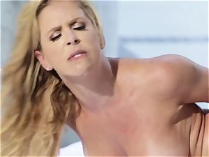 Mature buxom honey Cherie DeVille loves her ebony fitness coach and his meaty pecker