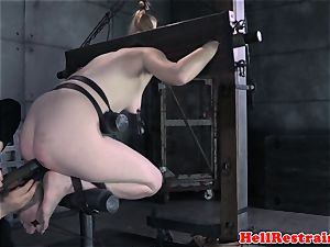 tied like a hog slave gagged and dominated by master