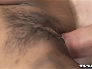 chinese nubile loves being plumbed by a white pecker