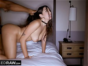 BLACKEDRAW Latina wifey splashes with 12 inch monster dark-hued sausage