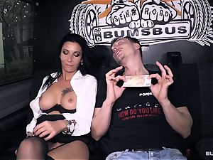 cabooses Bus – red-hot German bus plow with messy mature female