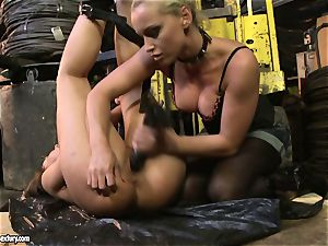 Andy chocolate-colored and Kathia Nobili butt dildoing firm