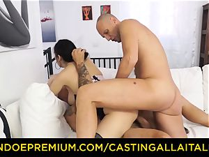 audition ALLA ITALIANA - red-hot milf has double assfuck fun