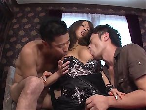 infrequent Ema Kisaki doing anal with 2 horny males