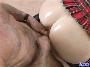 Creampied euro cougar enjoys poking geriatrics