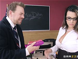 super hot teacher Danica Dillan smooths things over