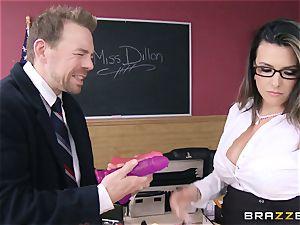 super hot teacher Danica Dillan smooths things over