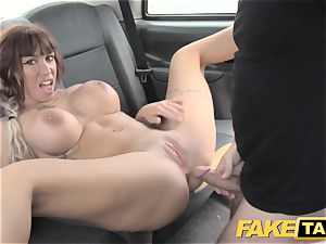 fake taxi Spanish melons and english thick spear