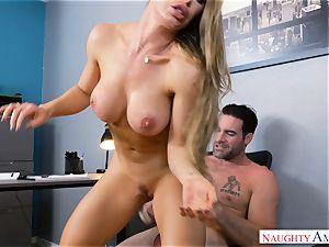 Nicole Aniston nailing at work