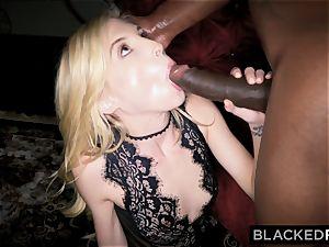 BLACKEDRAW little platinum-blonde predominated by ebony man
