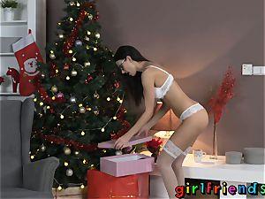 gfs cuckold rope on bang in stocking