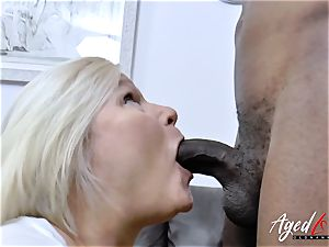 AgedLovE Lacey Starr gets interracial gonzo