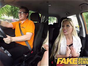 fake Driving school Barbie Sins muddy blowage