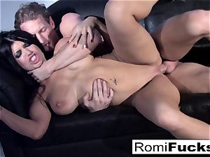 handsome taunt followed by hard hook-up with Romi Rain