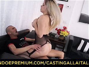 audition ALLA ITALIANA - huge-chested Italian blondie arse romped