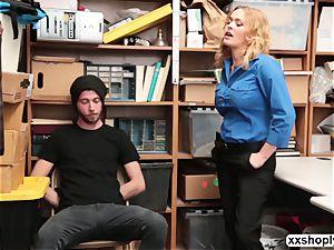 super-hot blonde LP Officer Krissy Lynn gets plumb by a Shoplifter