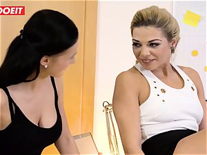 Stepdaughter joins parent in banging the office secretary