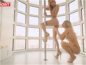 sapphic duo likes Afternoon molten intercourse on the Balcony