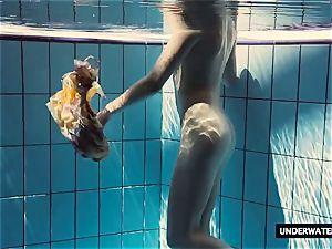 super-fucking-hot enormous jugged teenage Lera swimming in the pool