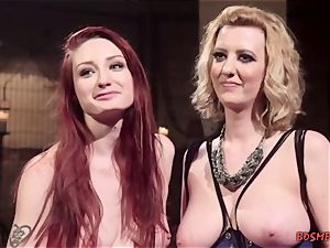 sandy-haired woman likes bondage With Her mistress
