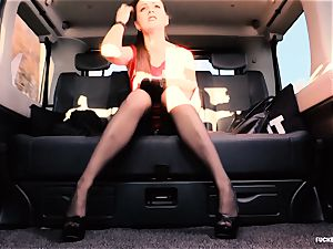 plowed IN TRAFFIC - brit Tina Kay penetrated in the car