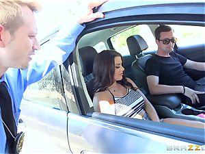 Keisha Grey getting smashed via the car