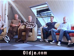 6 oldman fuckin' in group a fantastic steamy ash-blonde