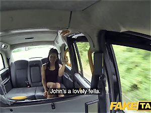 faux taxi rapid poking and internal cumshot for peachy ass
