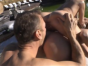 Rocco Siffredi heads deep inwards Cayenne Klein and her pal