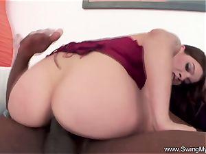 interracial big black cock With ample breast latina Swinger