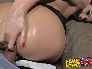 fake Agent UK european stunners peachy ass finger-tickled and pulverizes