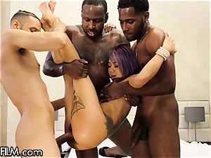 ginormous stiffy black folks squad Wrk gang-fuck petite chinese honey