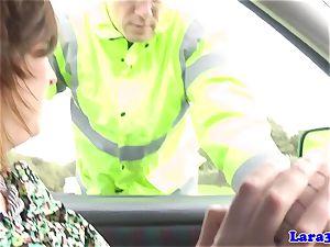 Caught wanking mature screws patrol cop