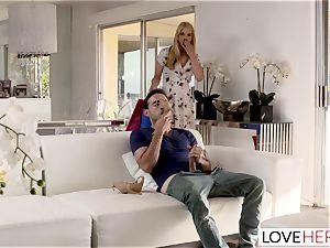 LoveHerFeet Caught jerking Off By insane Stepmom