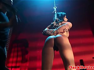 caned Chanel Preston plowed while tiedup