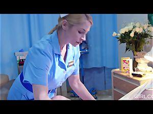 GIRLCORE girl/girl Nurses Give teenage Patient Vaginal examination