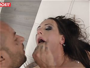 LETSDOEIT -Mea Melone faced Her limit drilling Mike Angelo