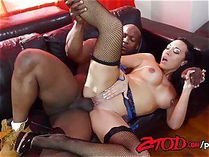 Rio Lee snuffling black fuck-stick