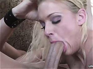 immense butt blondie juggles insanely on massive trouser snake