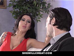 SheWillCheat - biotch wifey ass torn up by pal