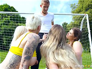 Soccer fun with Michelle Thorne and her pals