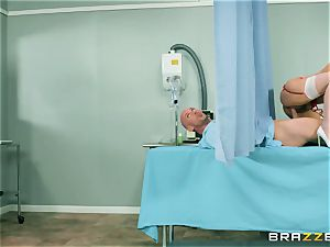thick natural funbag young nurse Valentina Nappi wants to sense a large stiffy in her gullet