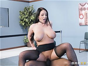 bi-racial cooter pulverize with gigantic all-natural mammories Angela milky
