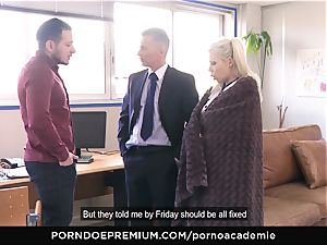 porno ACADEMIE - Barbie Sins cooch double penetration and cum in gullet
