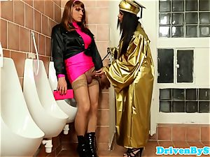 dark-hued superstar Isabella Chrystin in pee fun