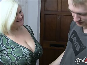 AgedLovE big-chested Mature Lacey Starr hardcore lover