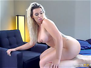 Smoking super hot platinum-blonde with a massive bum railing on top of Danny D
