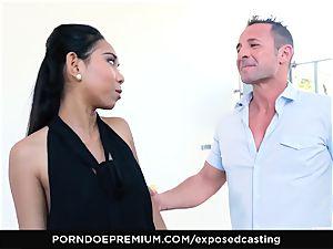 unsheathed casting - japanese babe likes molten FFM threesome