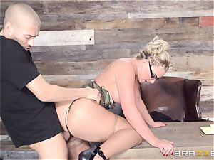 Phoenix Marie riding on top of Xander Corvus